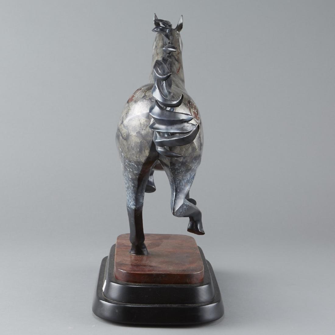 Joe Cajero Jr Freedom Bronze Horse Sculpture - 2