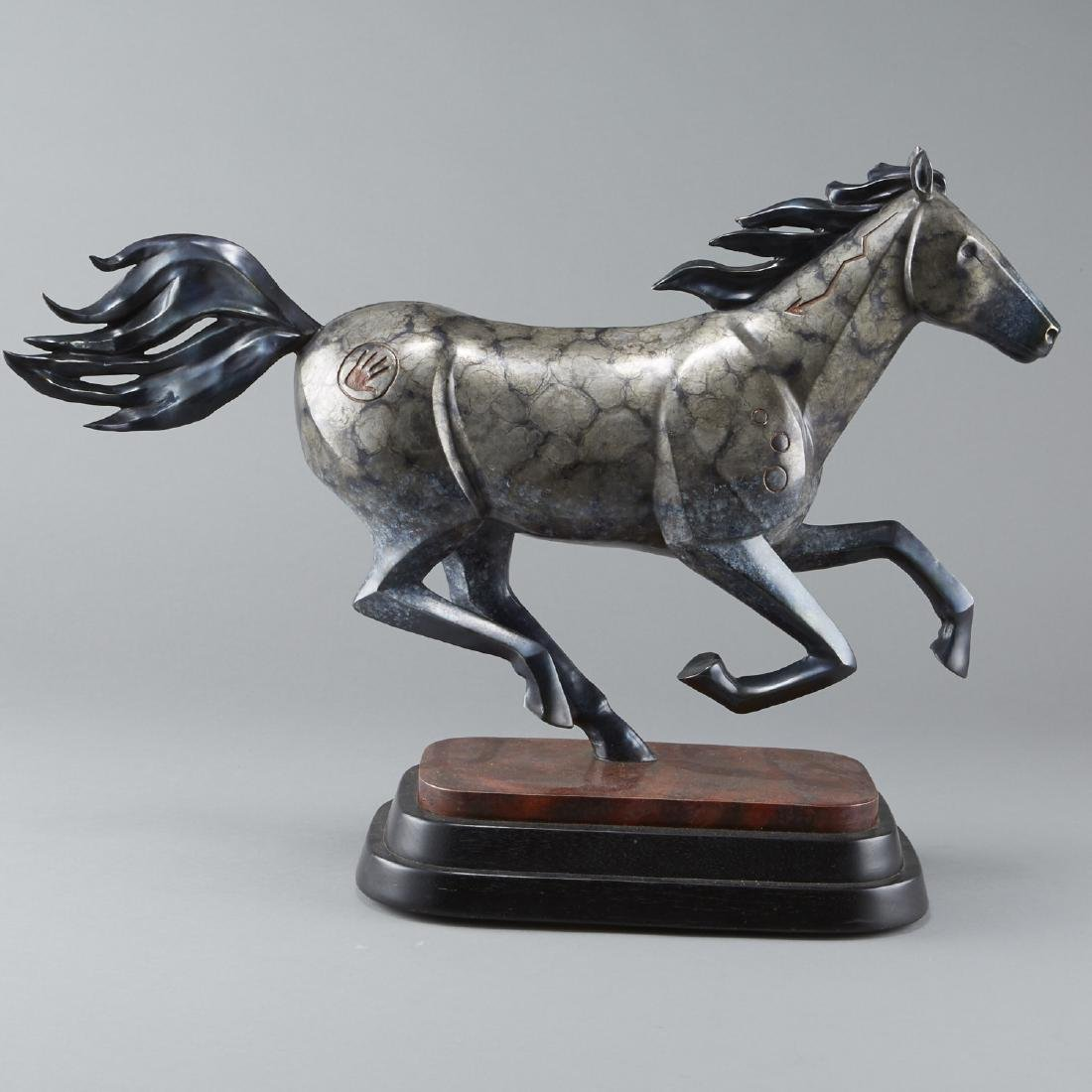 Joe Cajero Jr Freedom Bronze Horse Sculpture - 3