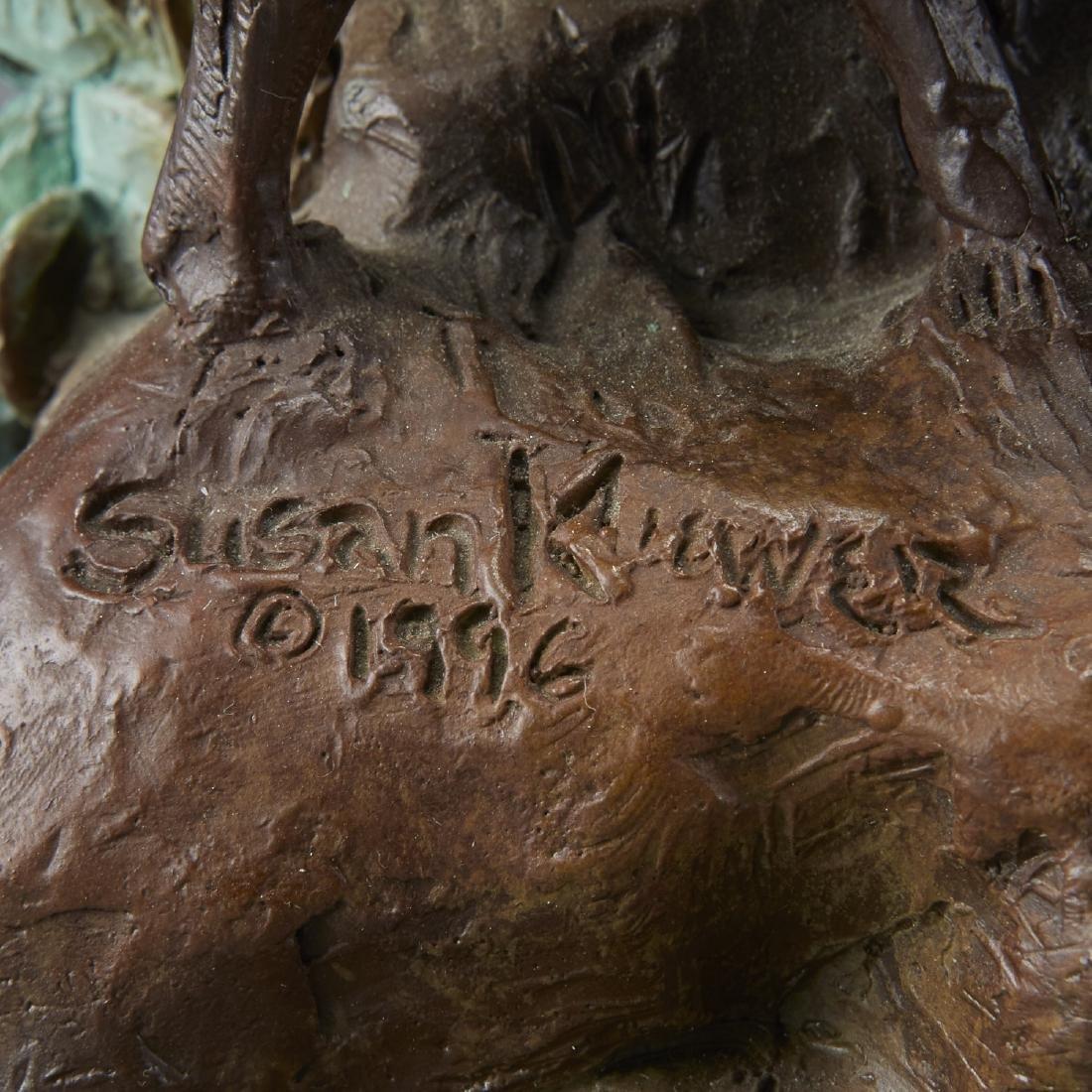 Susan Kliewer Bronze of a Boy with a Goats - 5