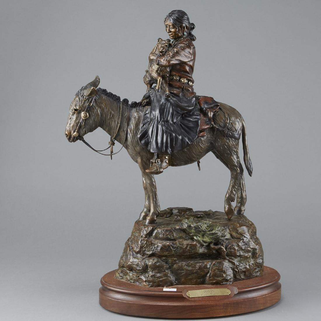 Susan Kliewer Bronze of Woman on Horseback