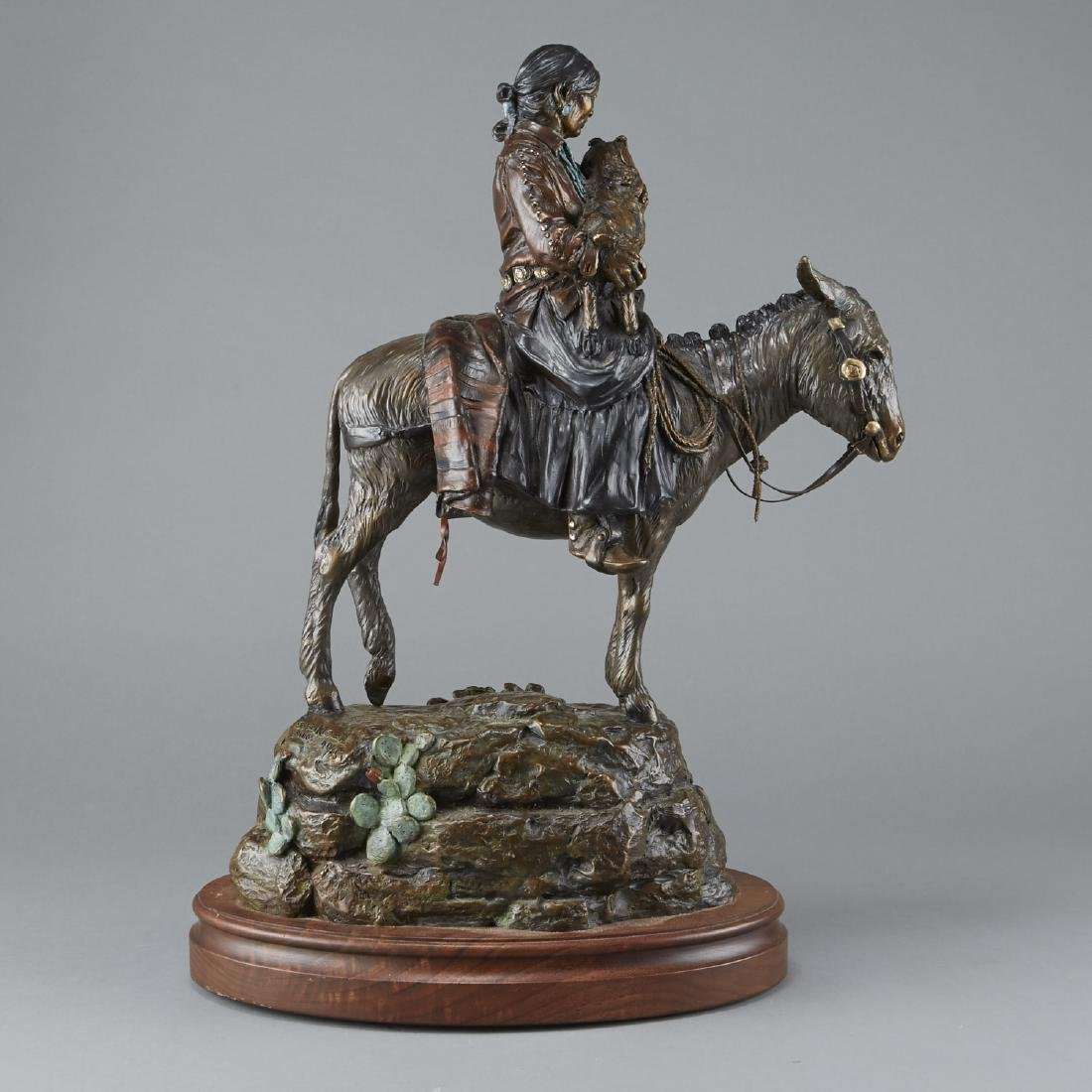 Susan Kliewer Bronze of Woman on Horseback - 3
