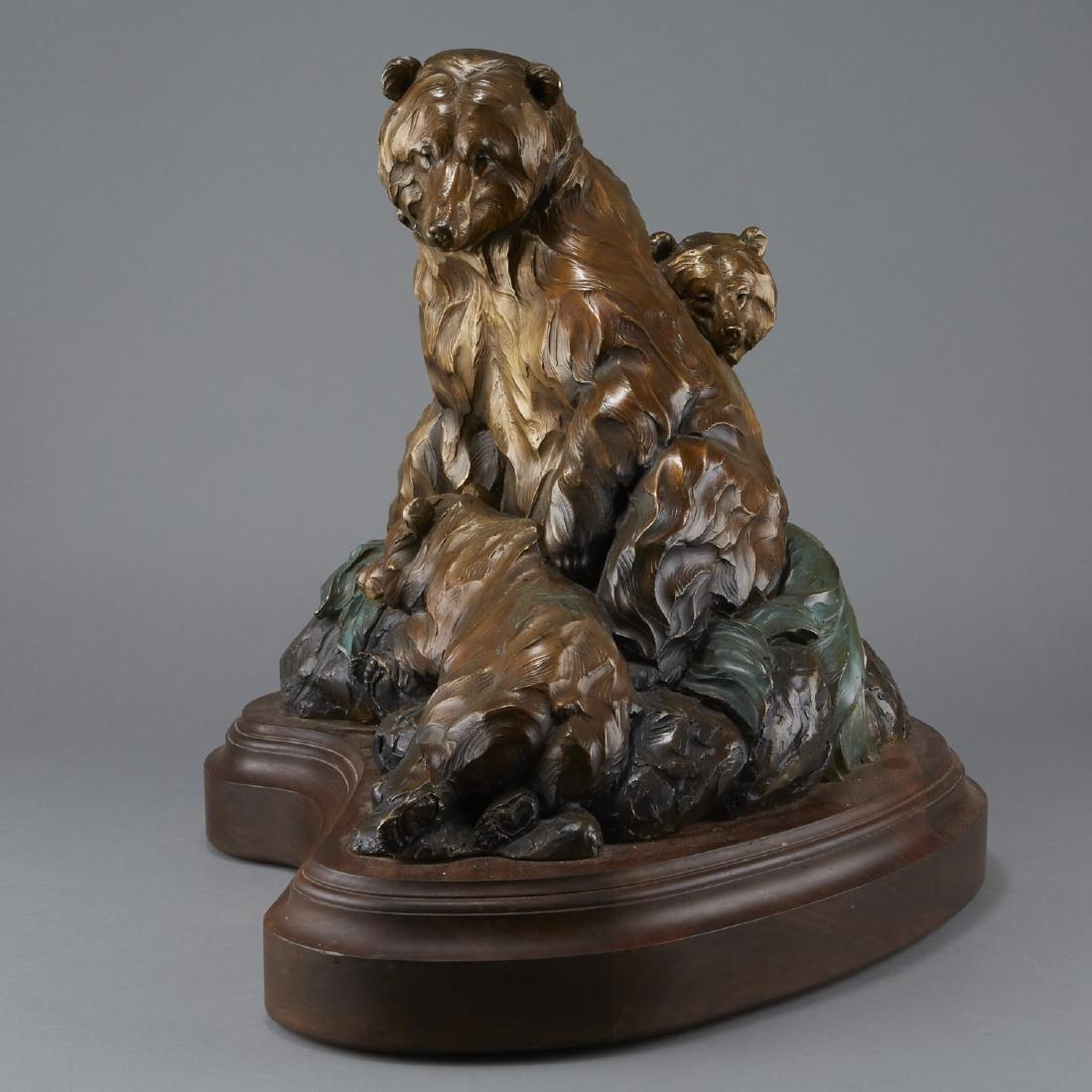 Ken Rowe Bronze Sculpture Bears
