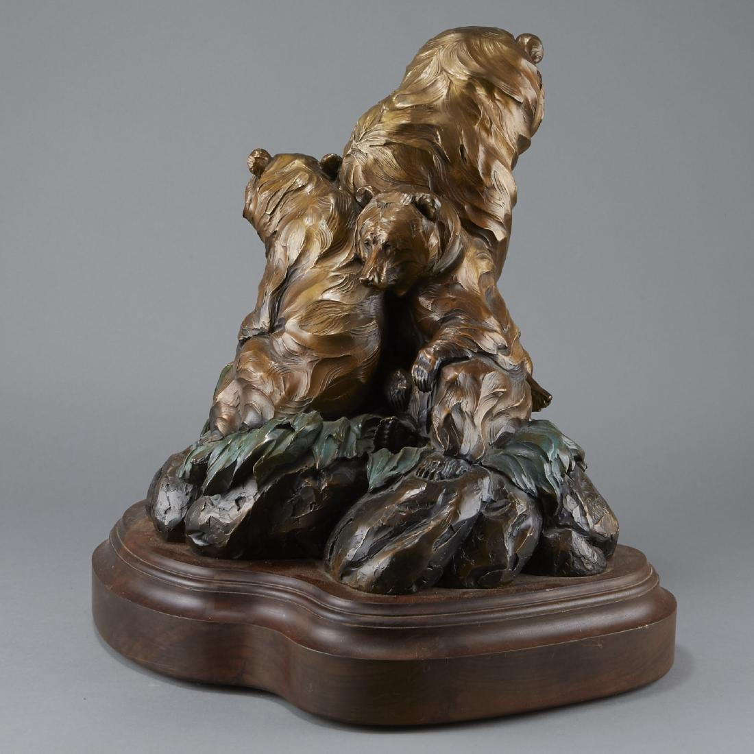 Ken Rowe Bronze Sculpture Bears - 2