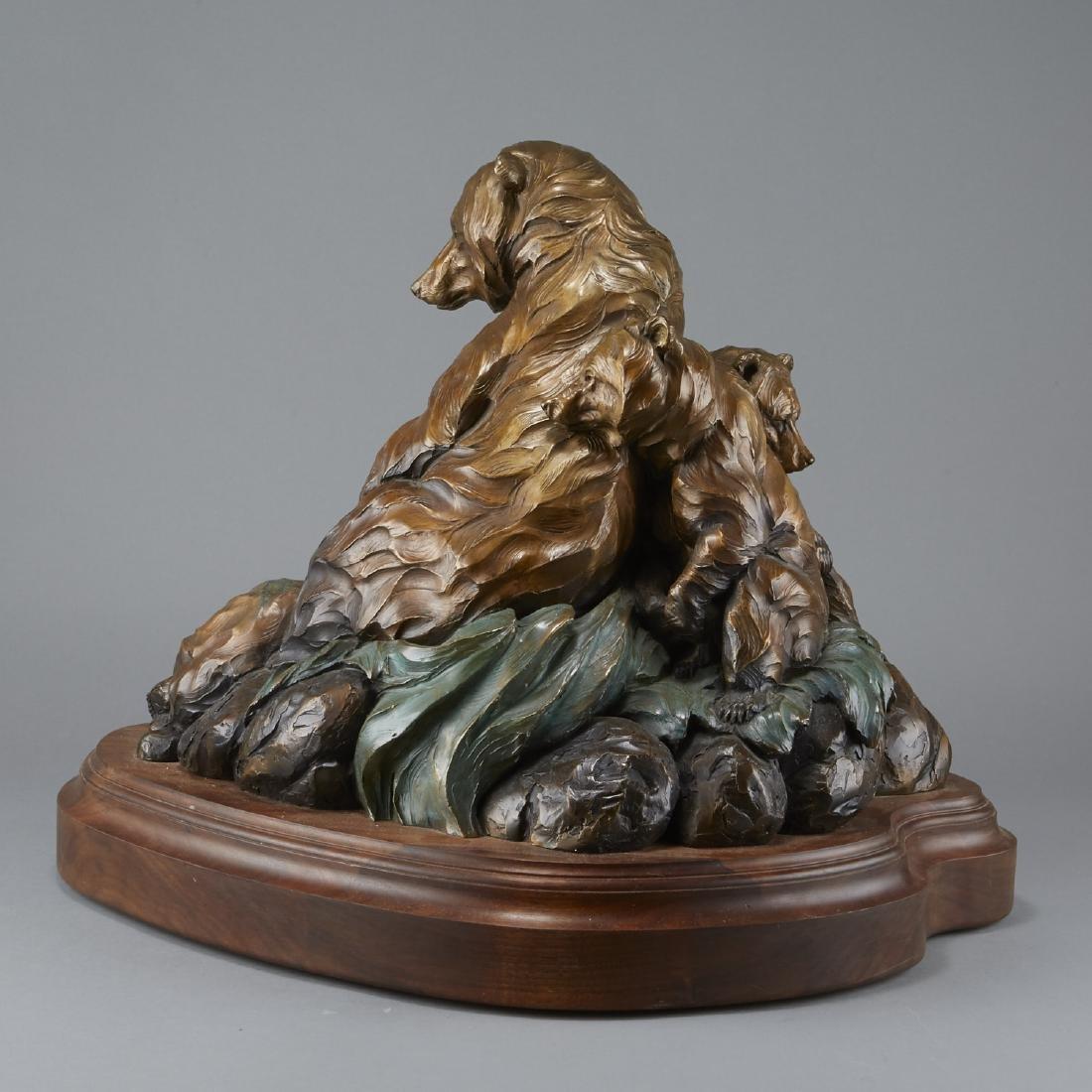 Ken Rowe Bronze Sculpture Bears - 3