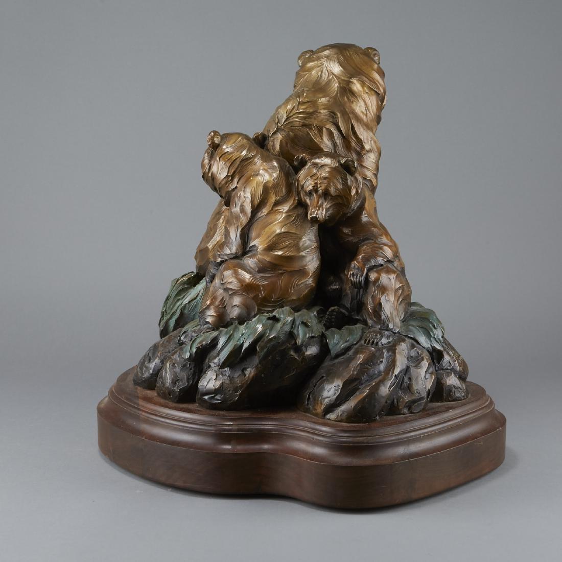 Ken Rowe Bronze Sculpture Bears - 4