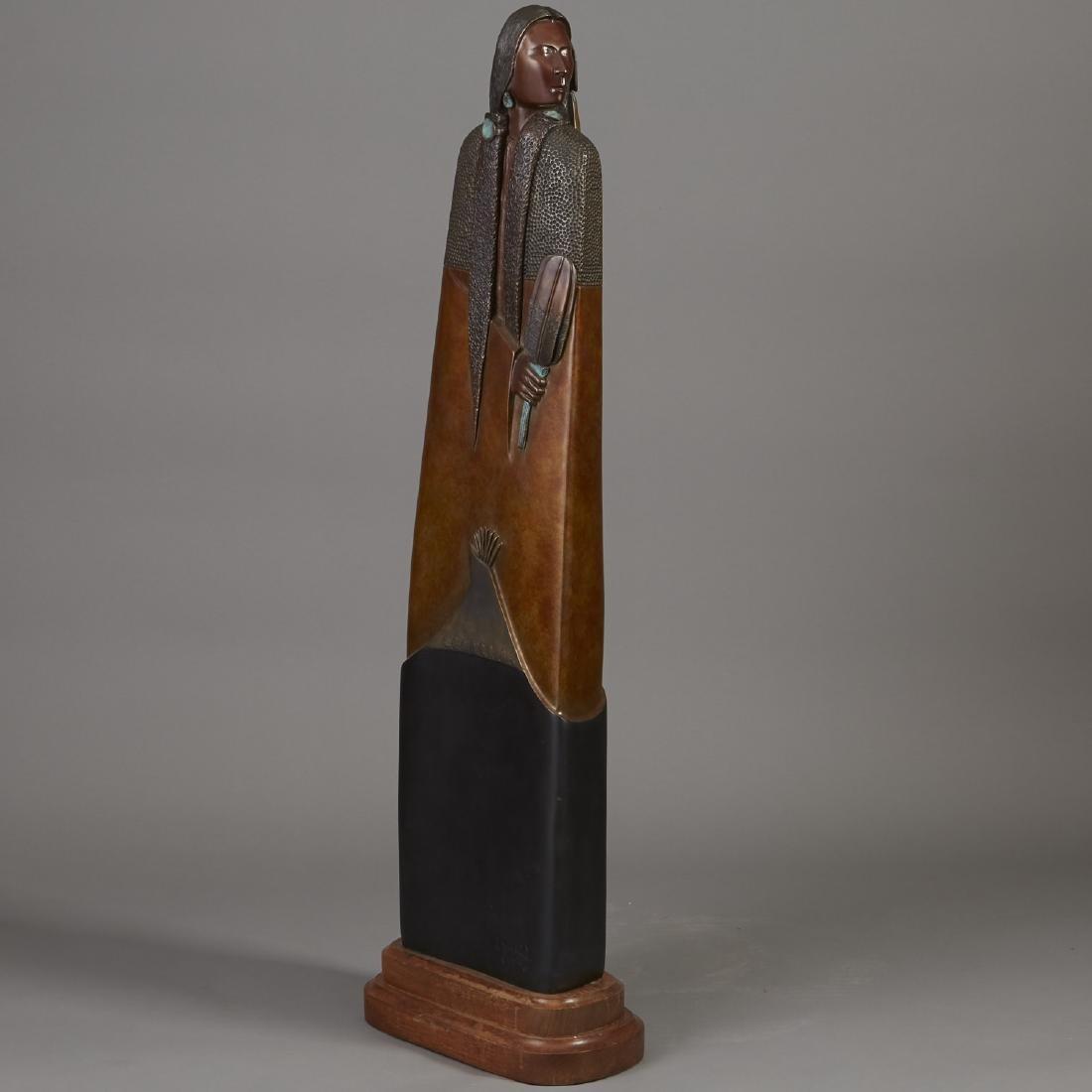 Larry Yazzie Bronze Sculpture - 2