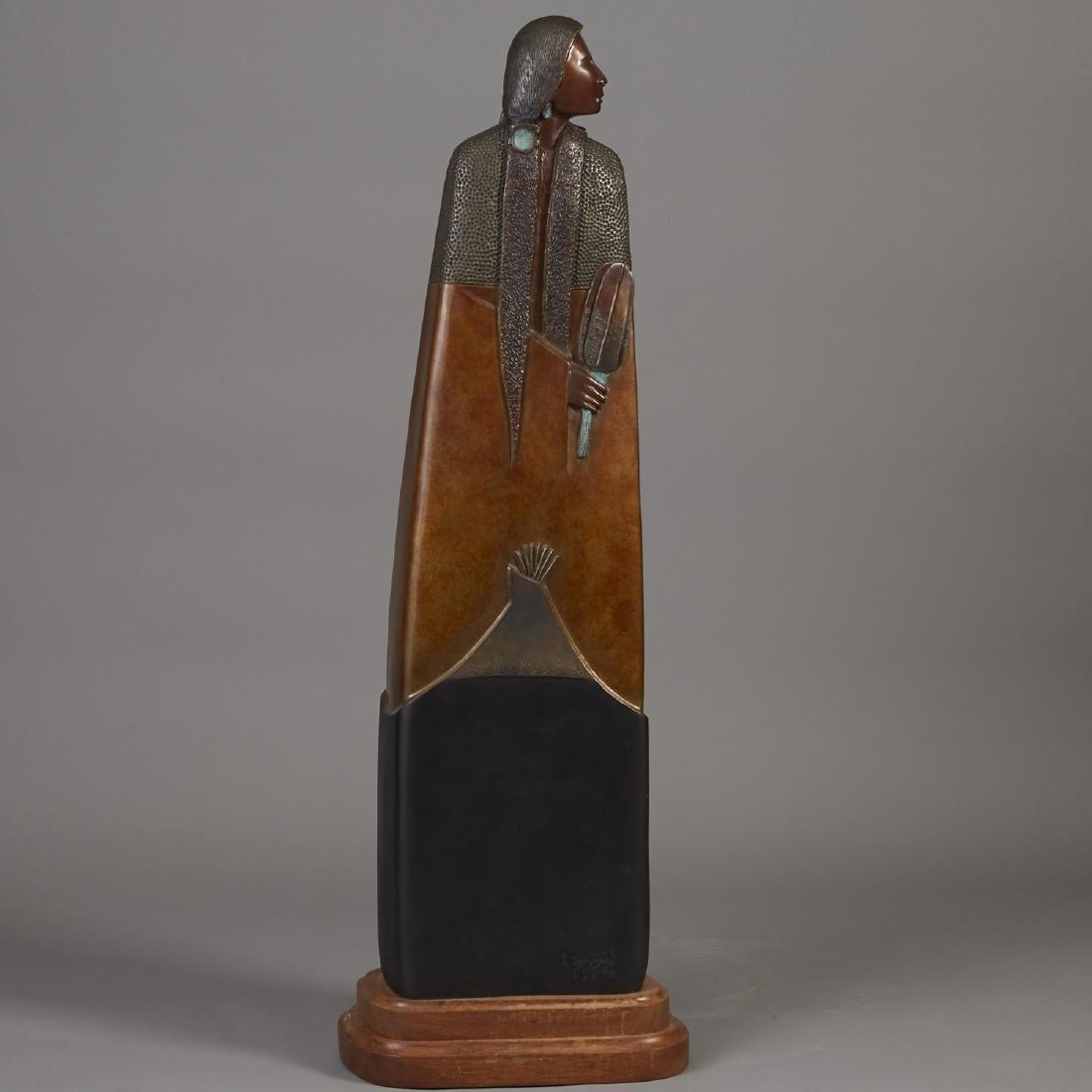 Larry Yazzie Bronze Sculpture - 3