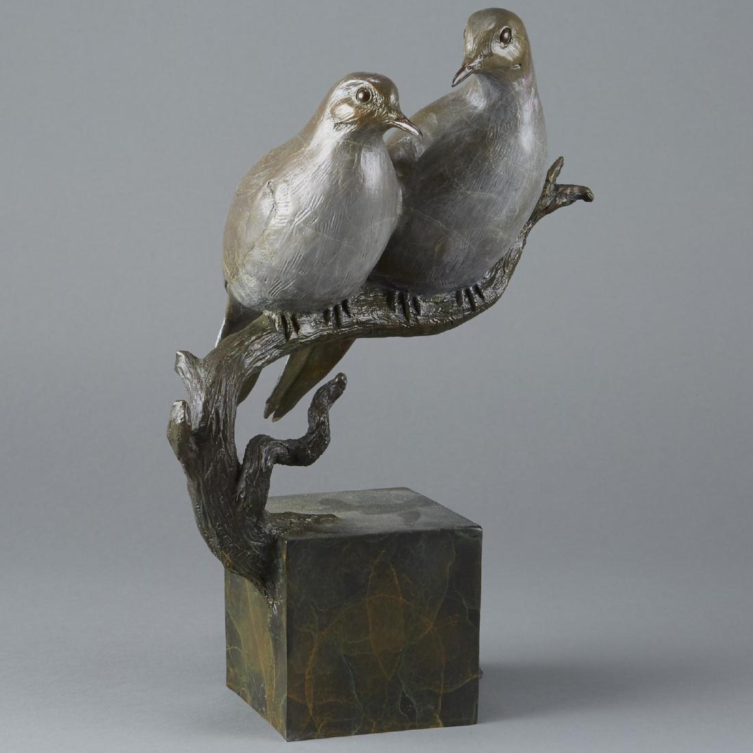 Jim Eppler Bronze Sculpture Doves