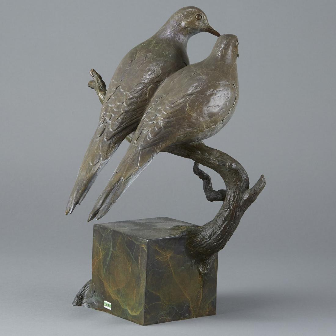 Jim Eppler Bronze Sculpture Doves - 2
