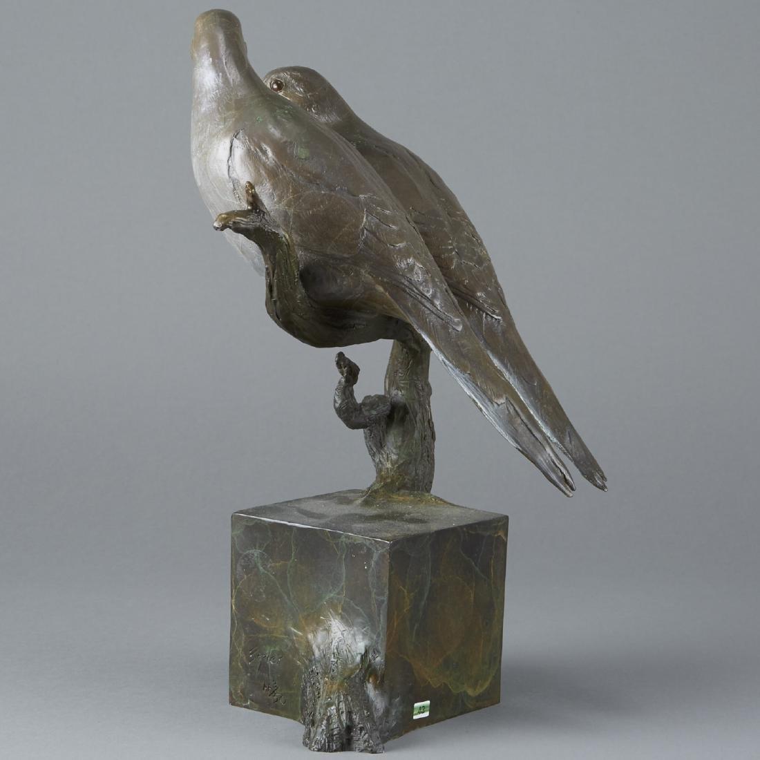 Jim Eppler Bronze Sculpture Doves - 3