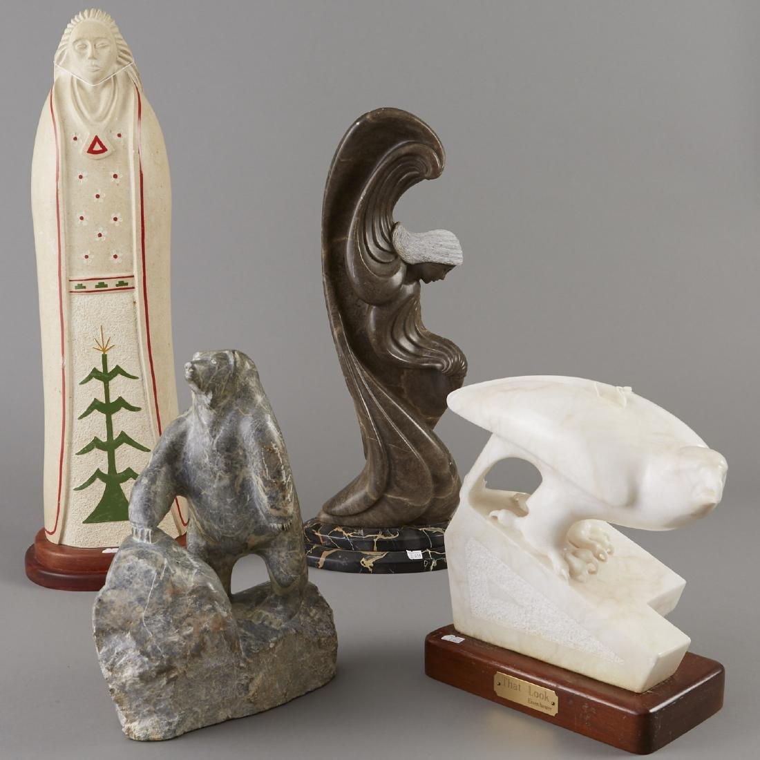 4 Stone Sculptures Fragua, Nanimahoo, Callor etc.