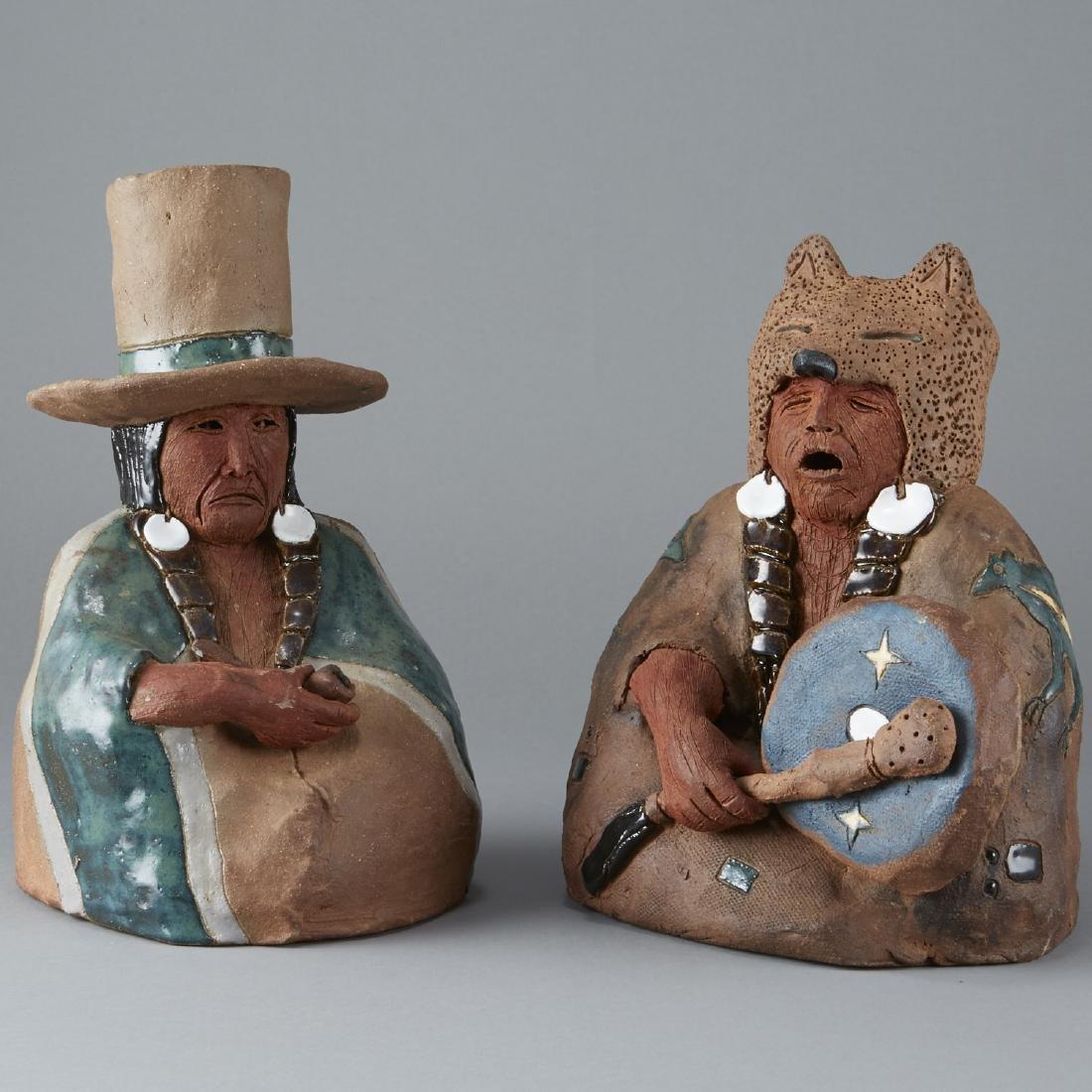 2 Glen LaFontaine Ceramic Sculptures