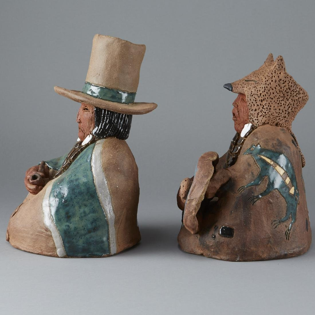 2 Glen LaFontaine Ceramic Sculptures - 2