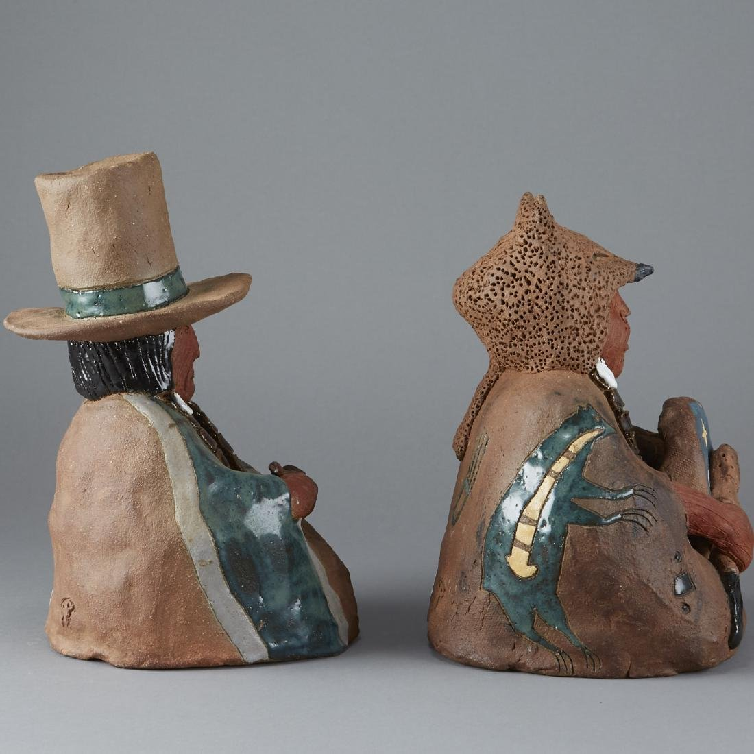 2 Glen LaFontaine Ceramic Sculptures - 4