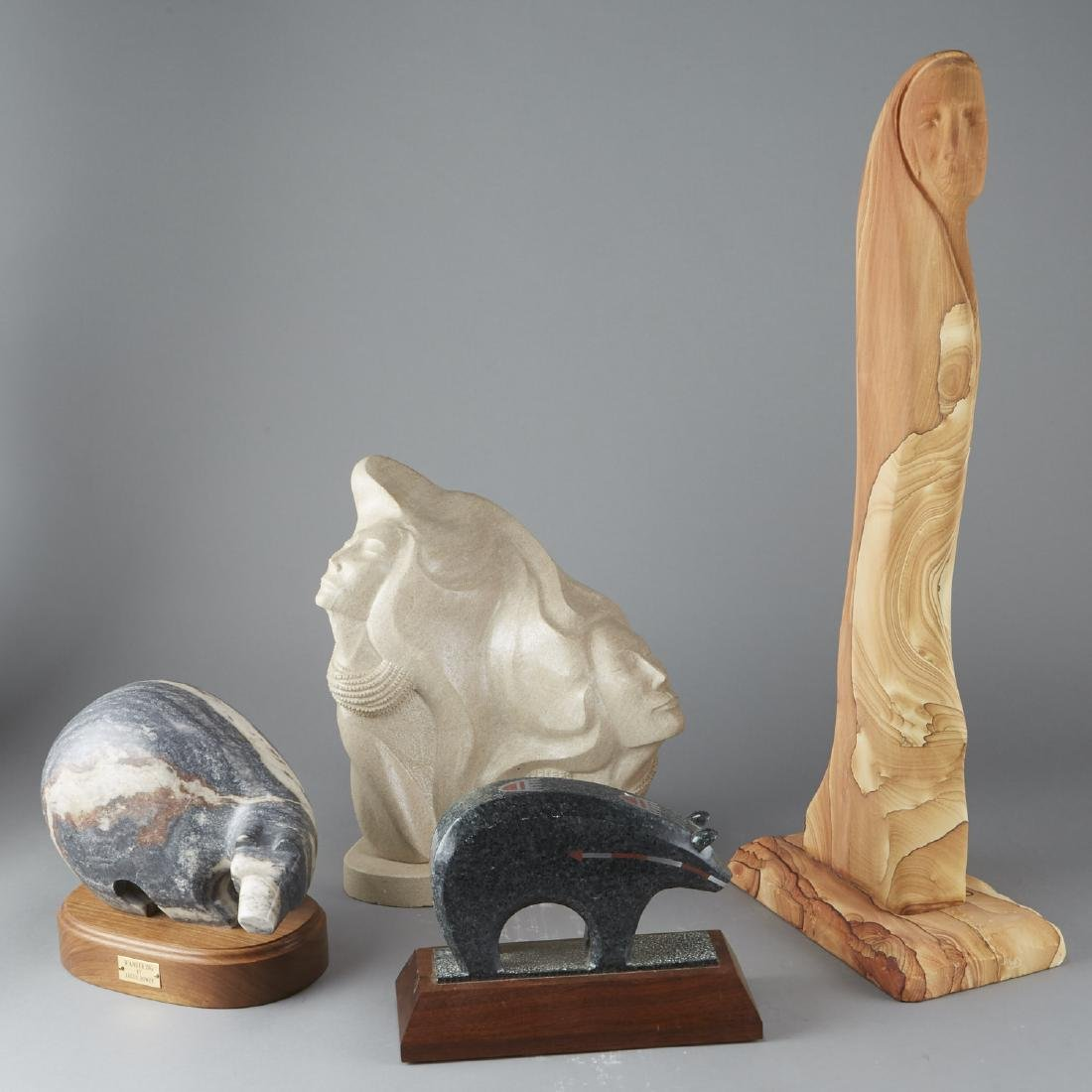 Group of Carved Stone Sculptures