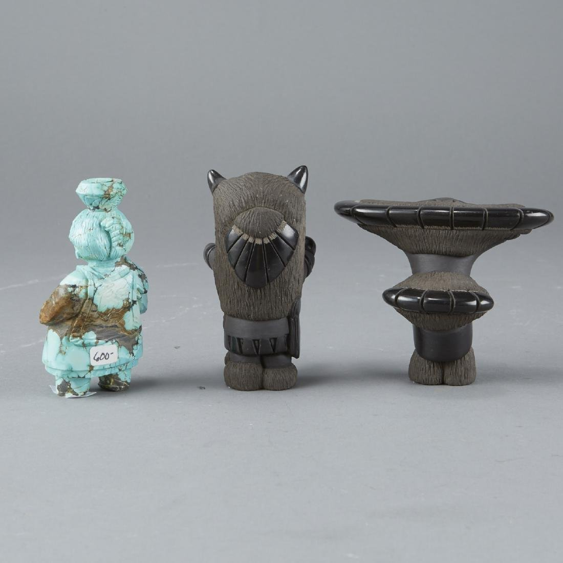 3 Stone and Ceramic Native American Figurines - 2