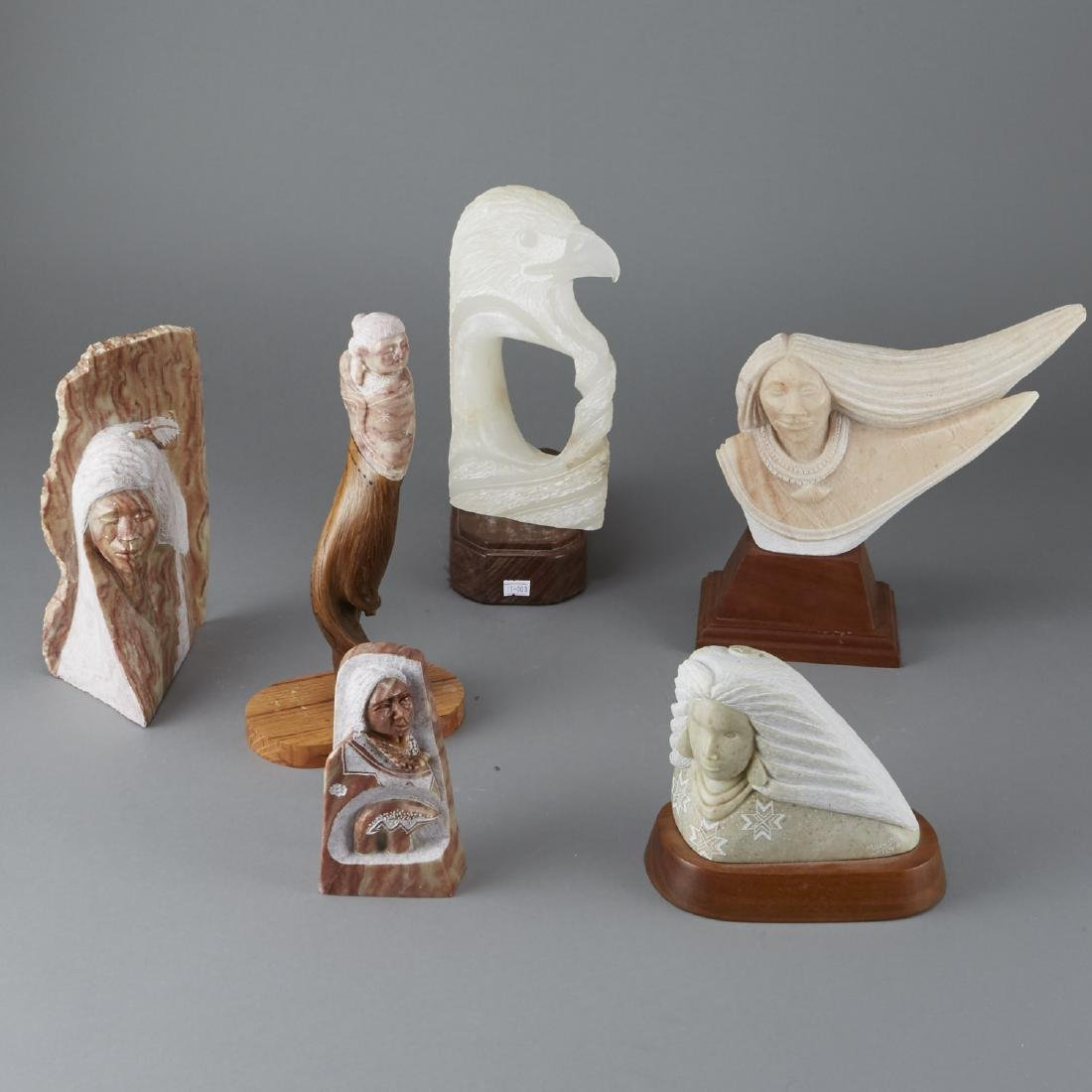 6 Alabaster Sculptures Toya Fragua Begay Parisien