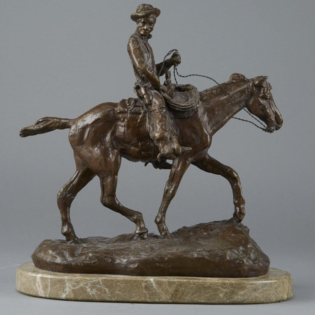 Equestrian Sculpture After Charles Russell