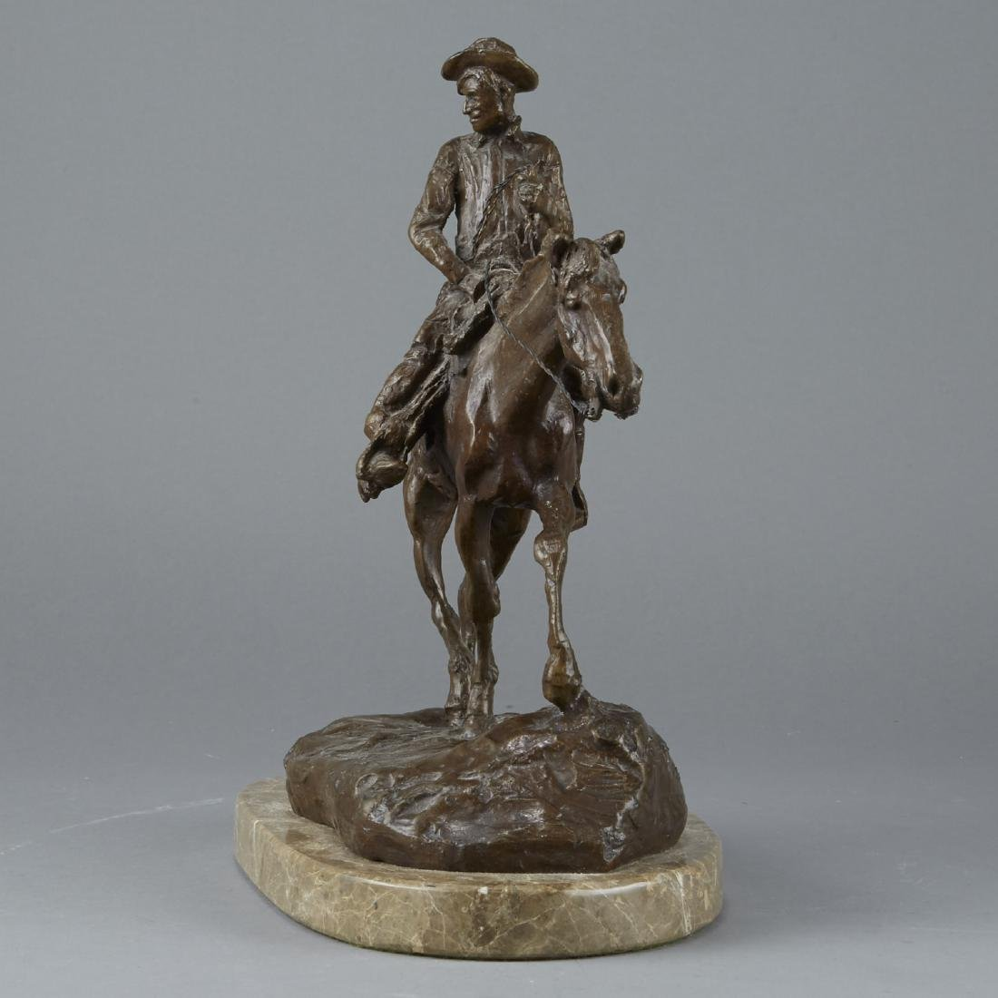 Equestrian Sculpture After Charles Russell - 2