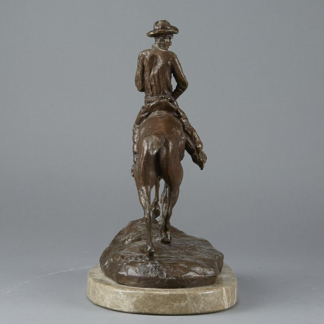 Equestrian Sculpture After Charles Russell - 4