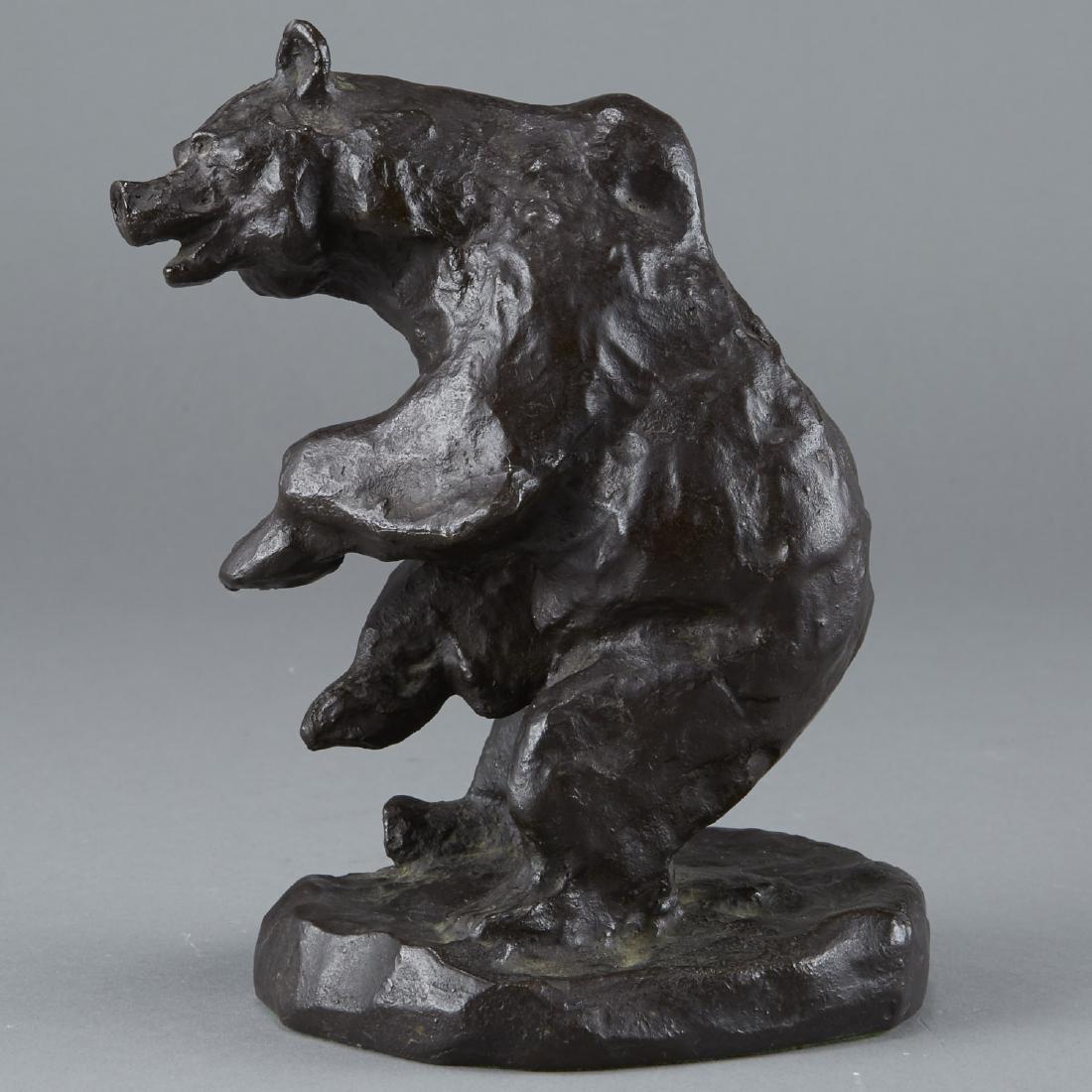 Bronze Bear Sculpture After Charles Russell