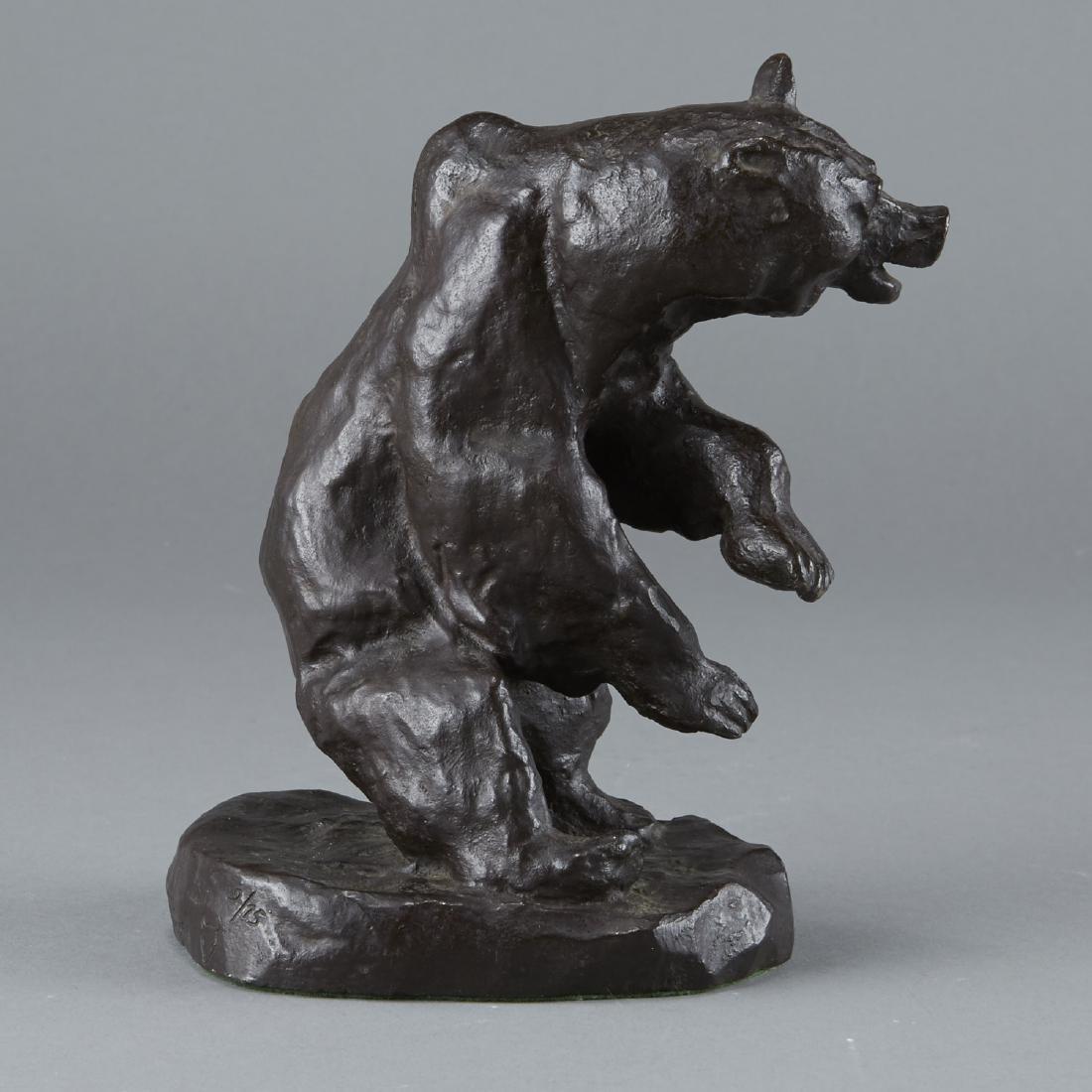 Bronze Bear Sculpture After Charles Russell - 3