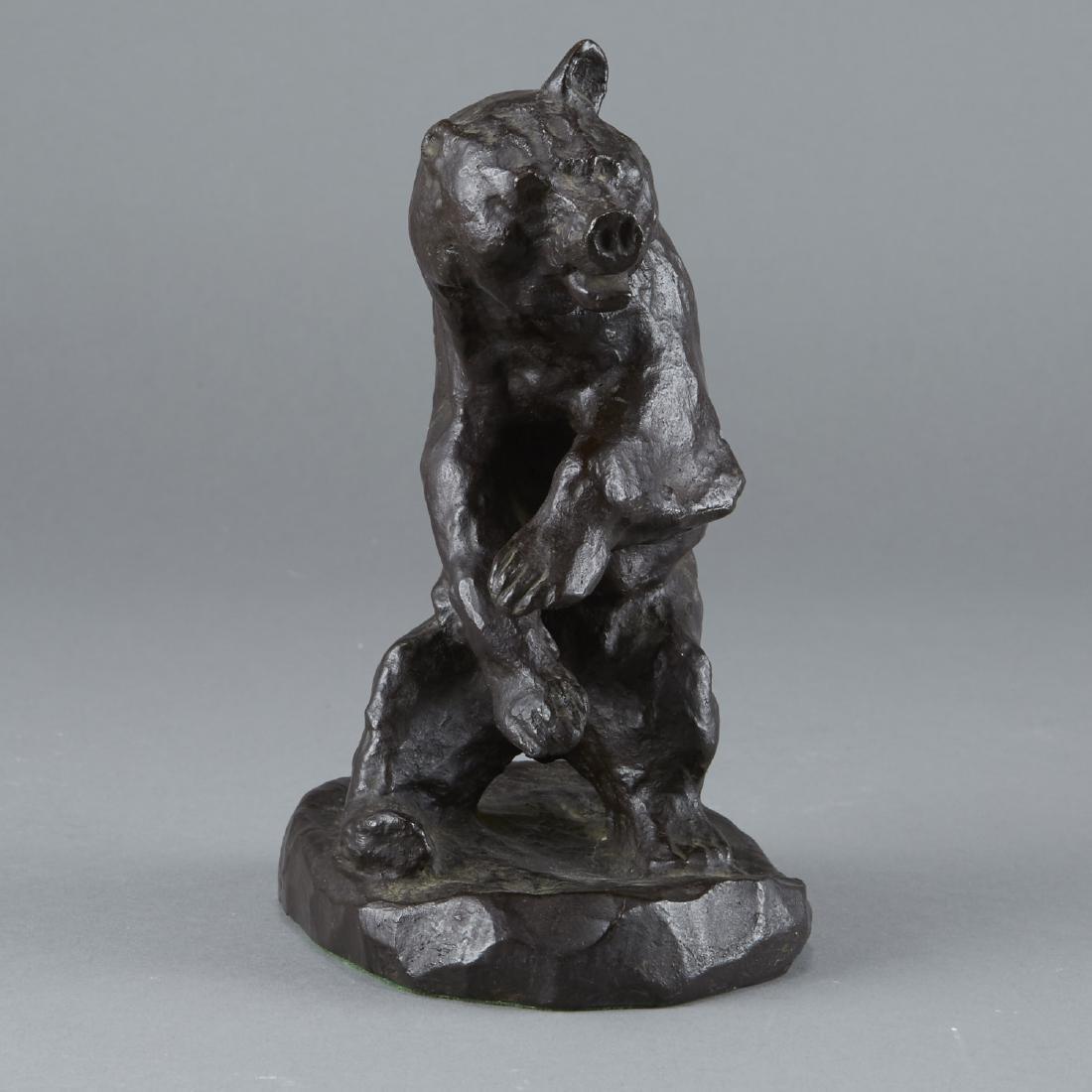 Bronze Bear Sculpture After Charles Russell - 4