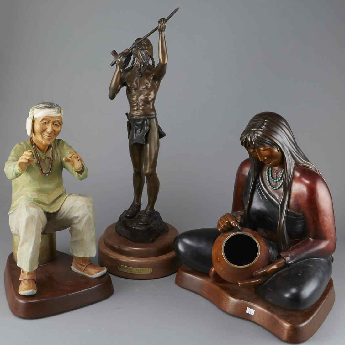 5 Bronze Sculptures Albro, Carpio, Cajero, etc.