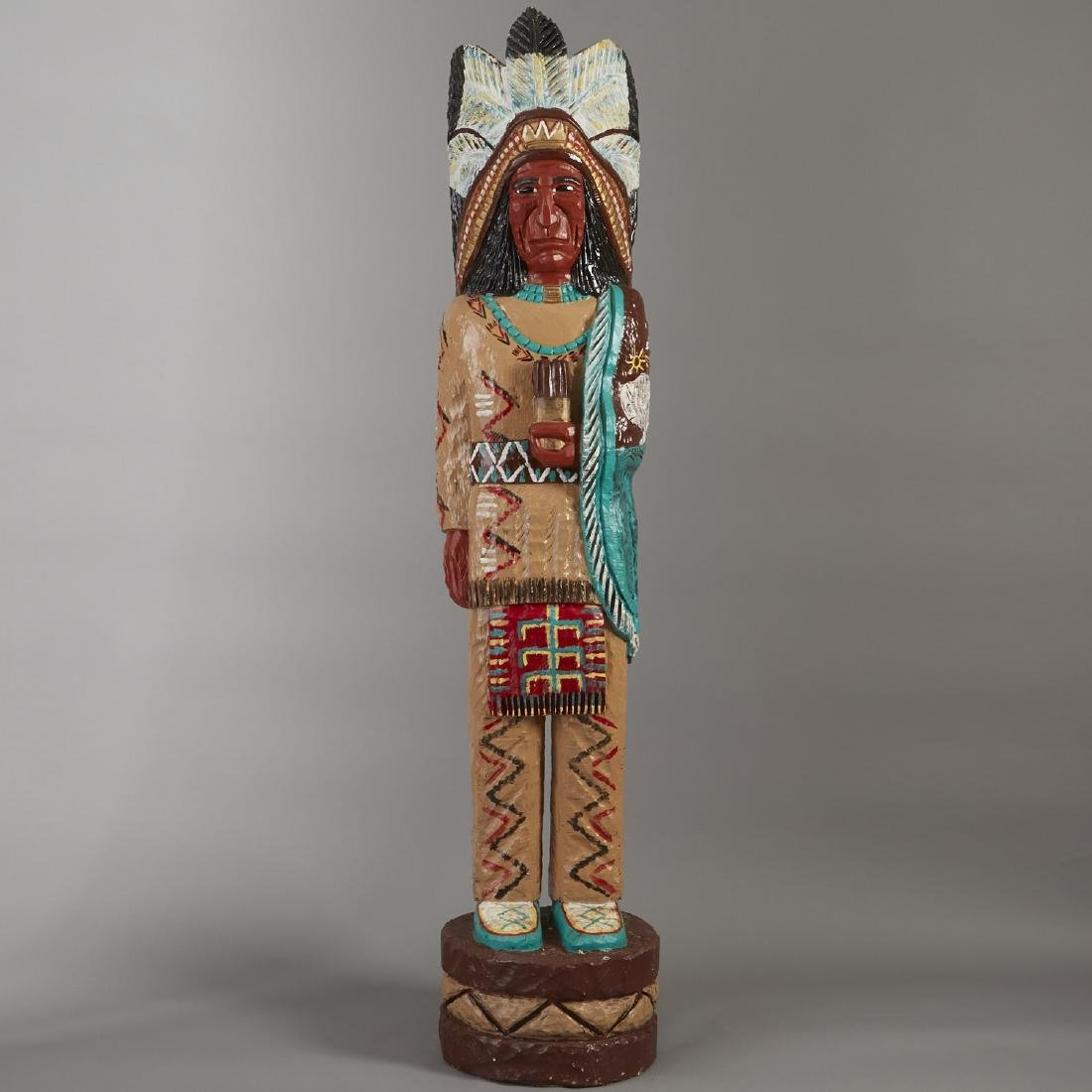 Carved Wood Cigar Store Indian Statue