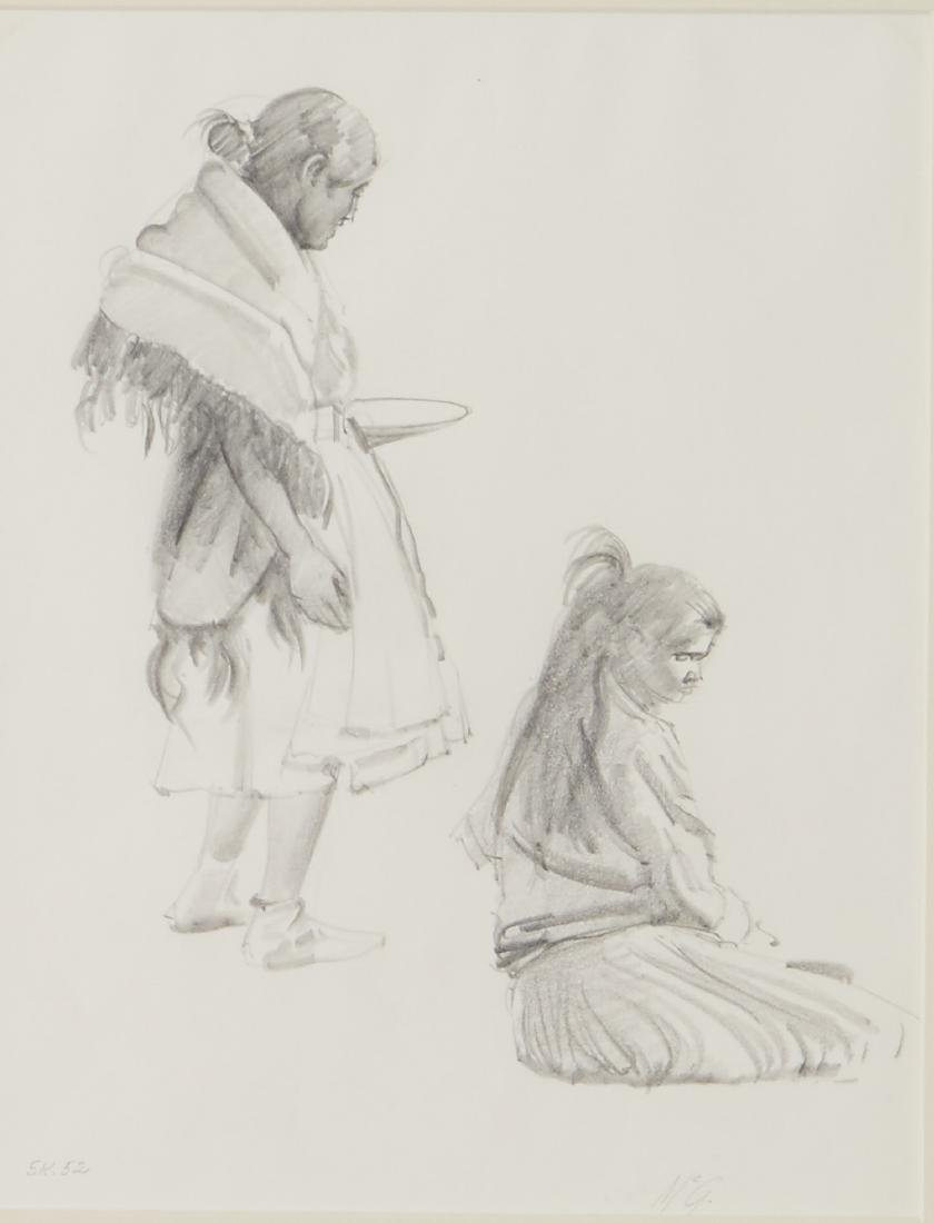 R. Brownell McGrew Graphite on Paper Drawing
