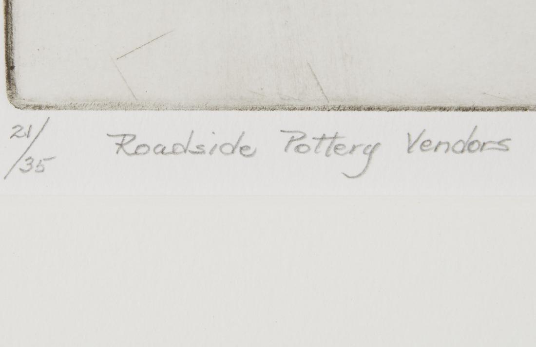 Gene Kloss Roadside Pottery Vendors Etching - 4
