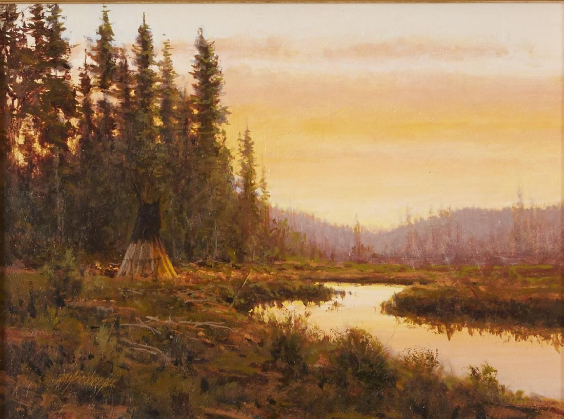 Dick Heichberger Oil Painting Fish Camp
