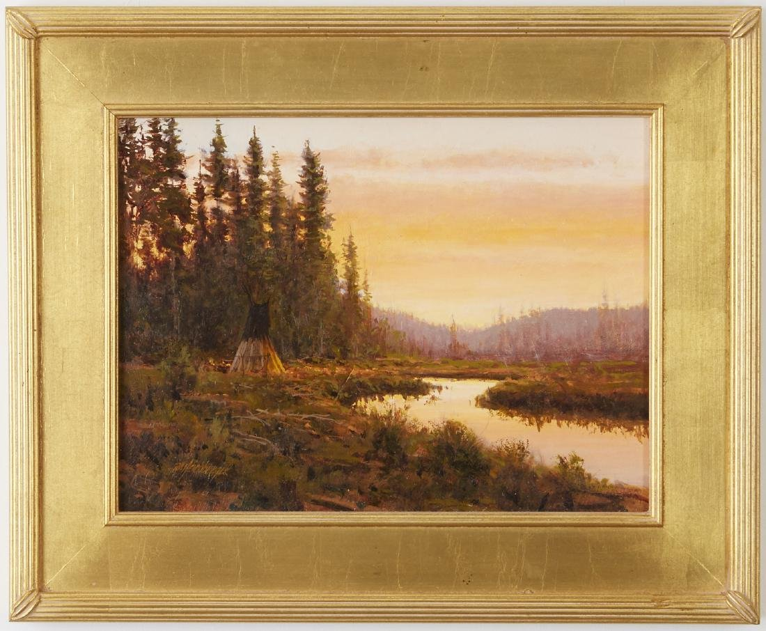 Dick Heichberger Oil Painting Fish Camp - 2