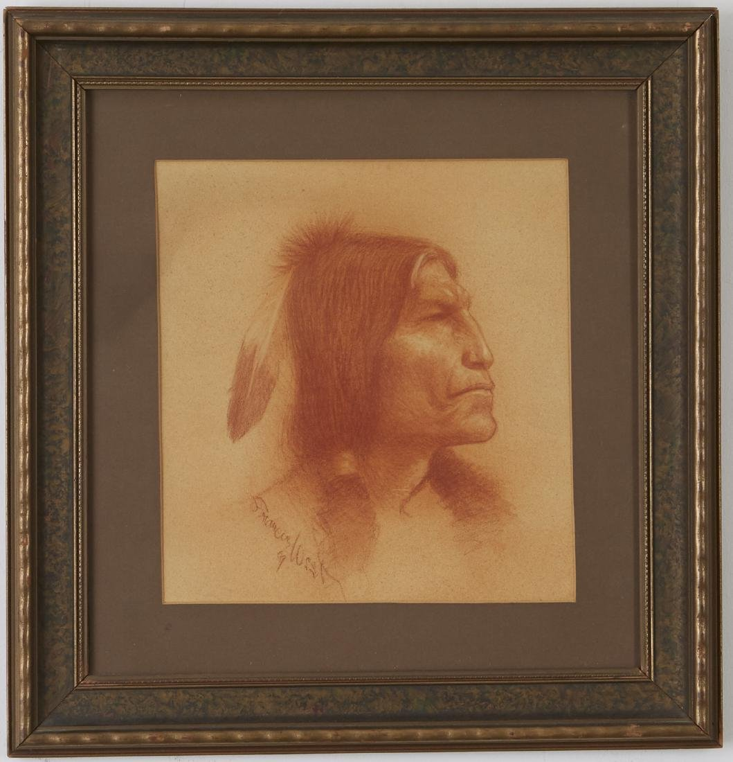 Francis West Drawing Native American Portrait - 2