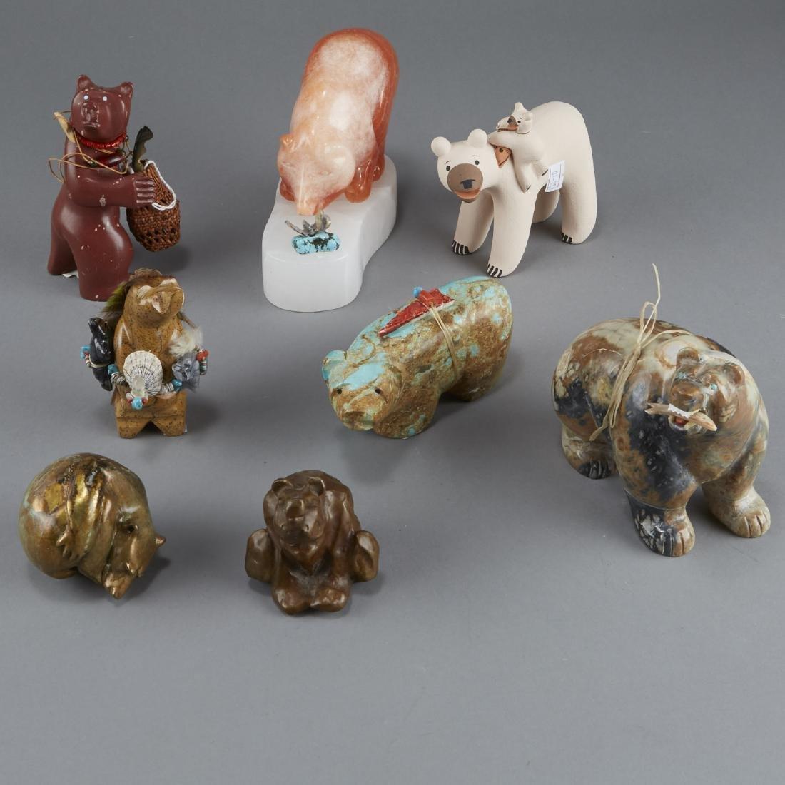Group of 8 Native American Bears