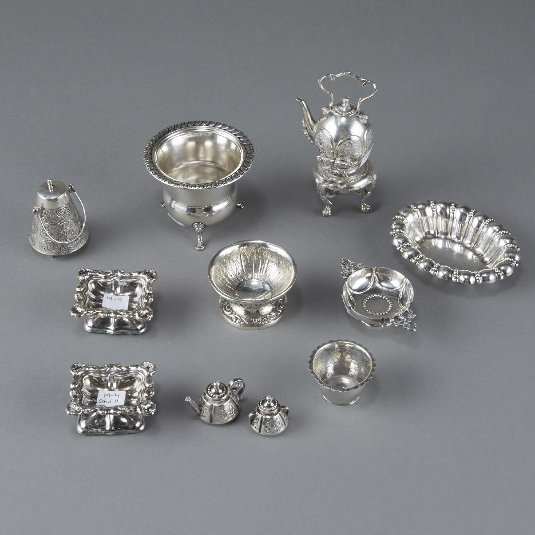 Group of Miniature Sterling Silver Tea Service