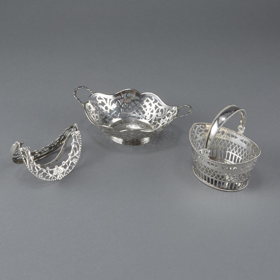 Set of 3 Sterling Silver Baskets