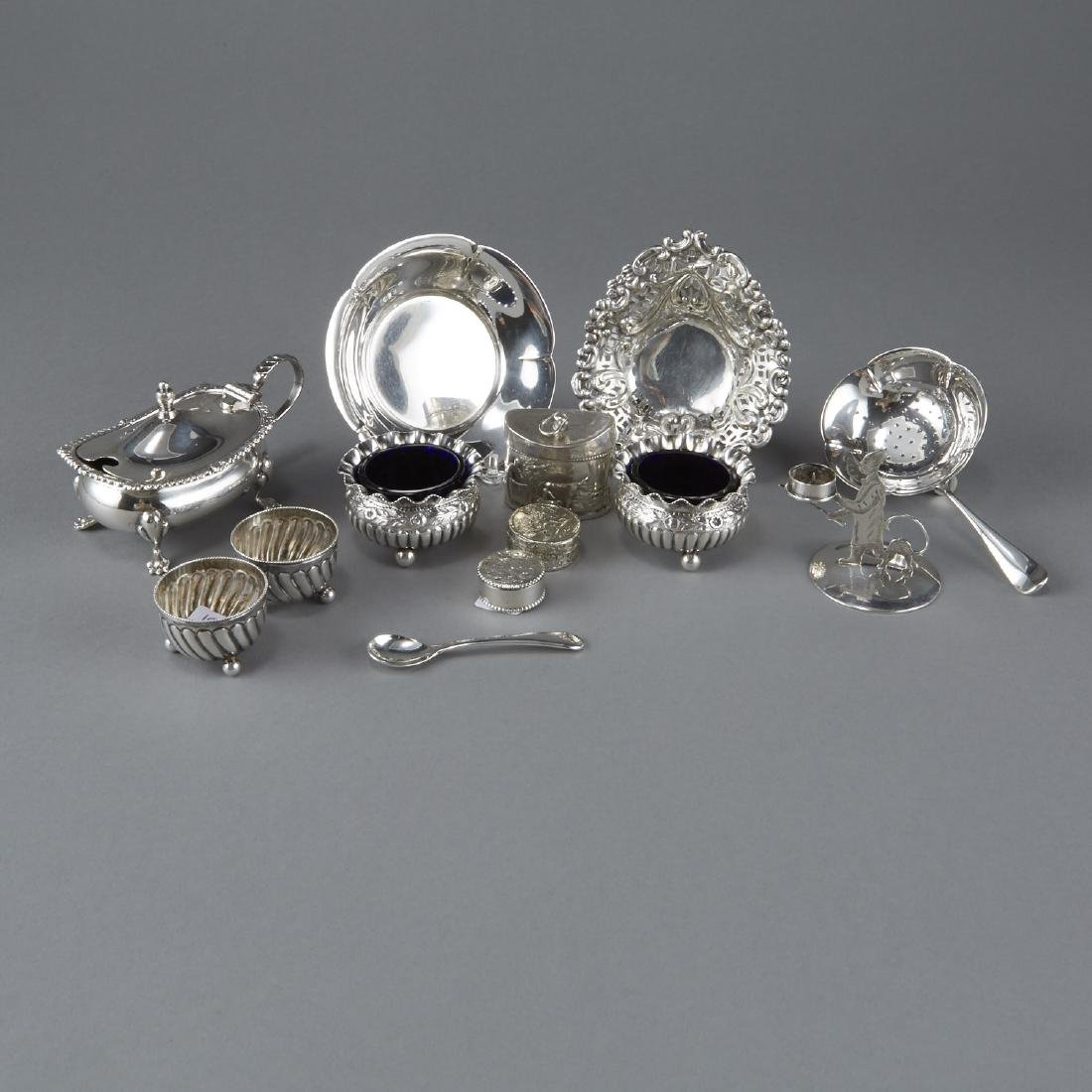 13 Miniature Sterling Silver Serving Dishes