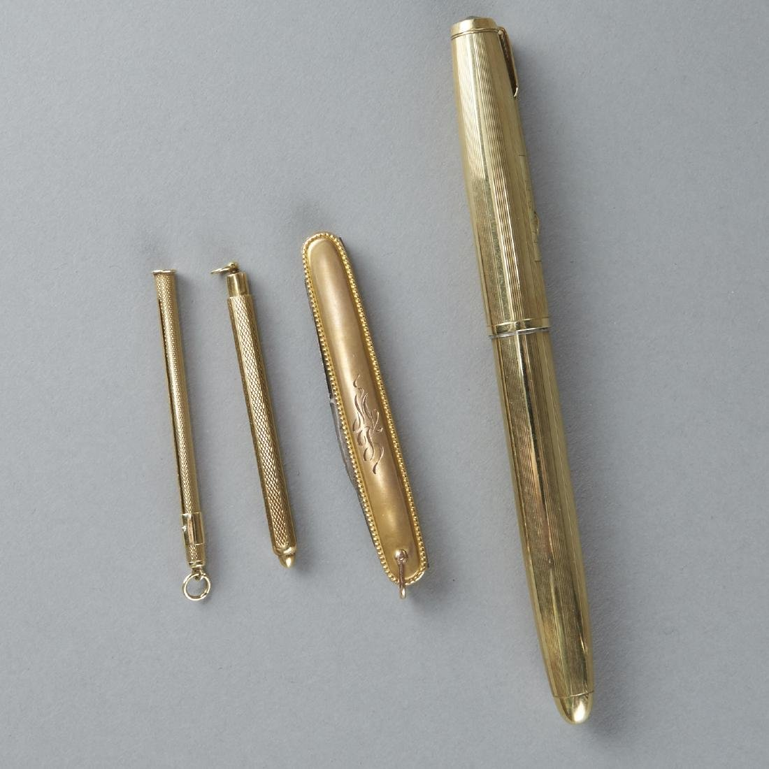 Set of 4 Gold Utensils
