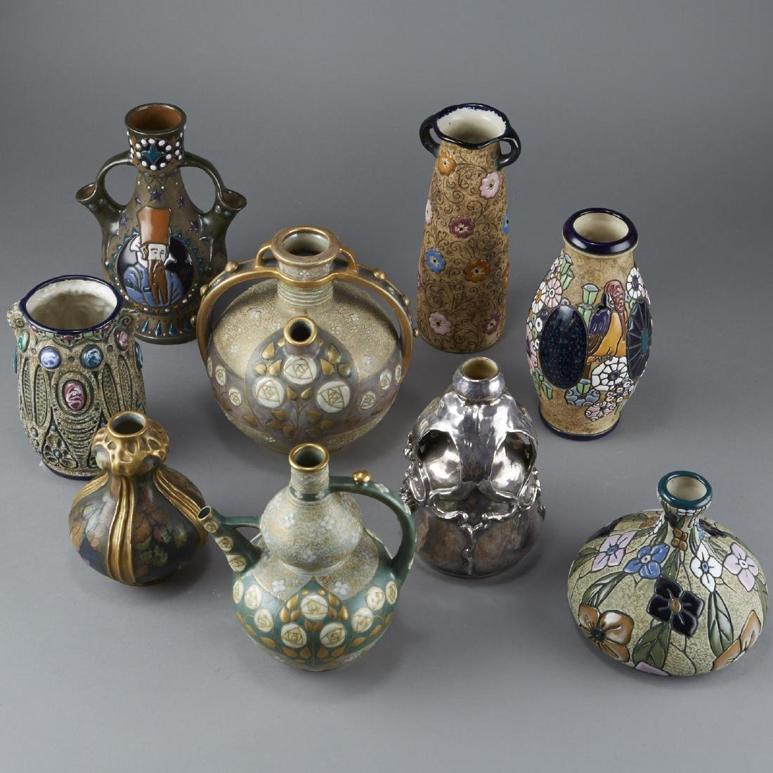 Group of 9 Amphora Pottery