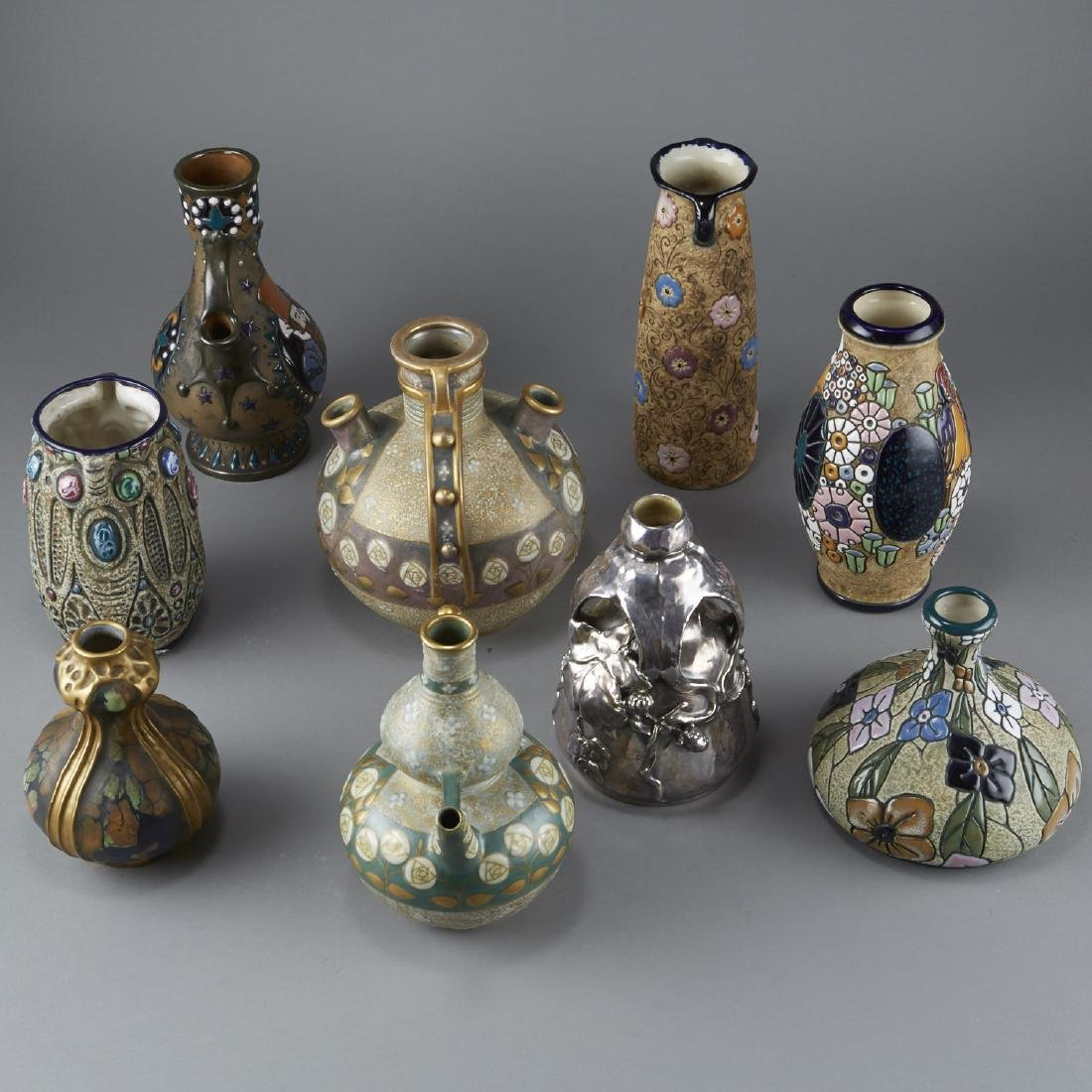 Group of 9 Amphora Pottery - 4