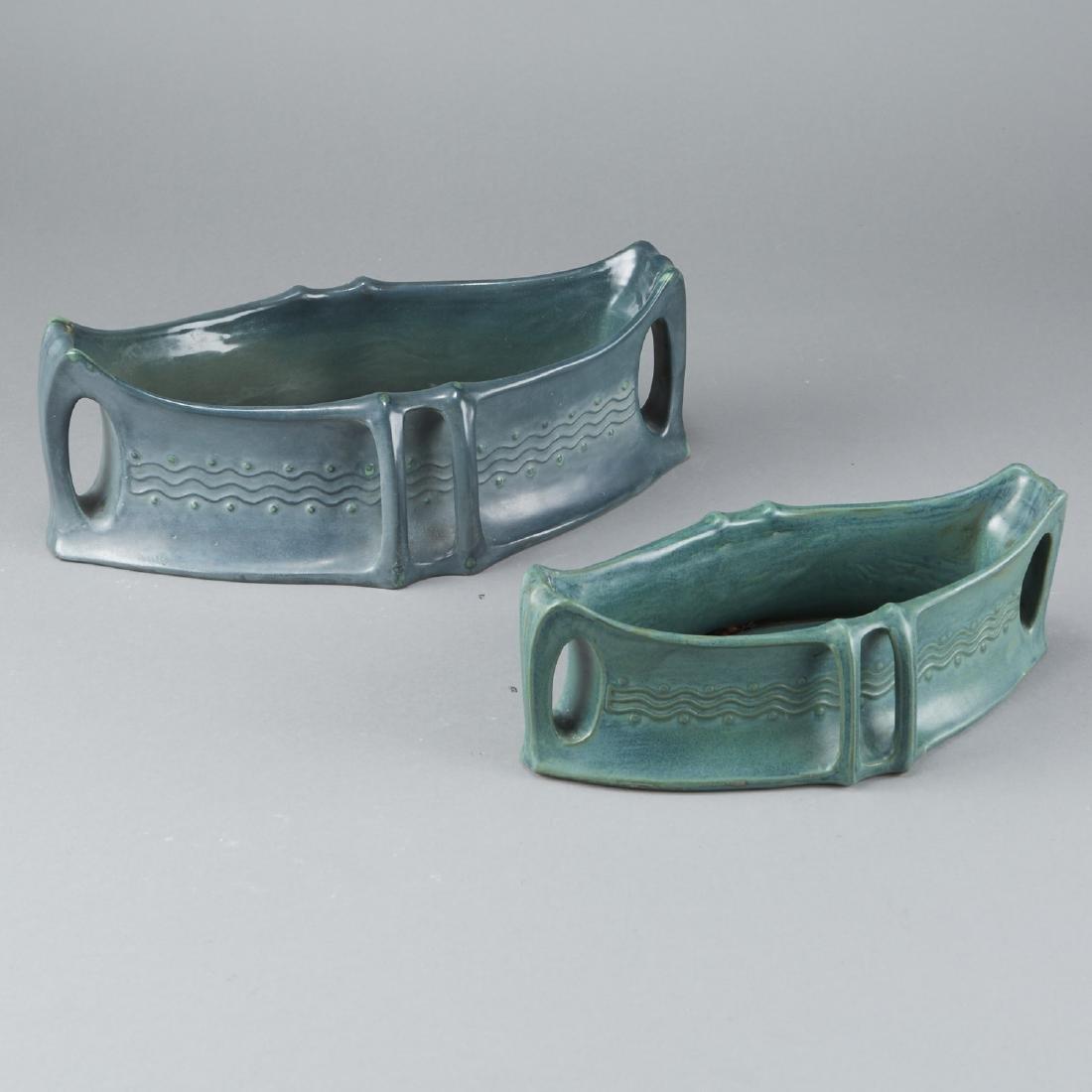 Pair of Amphora Arts and Crafts Basin