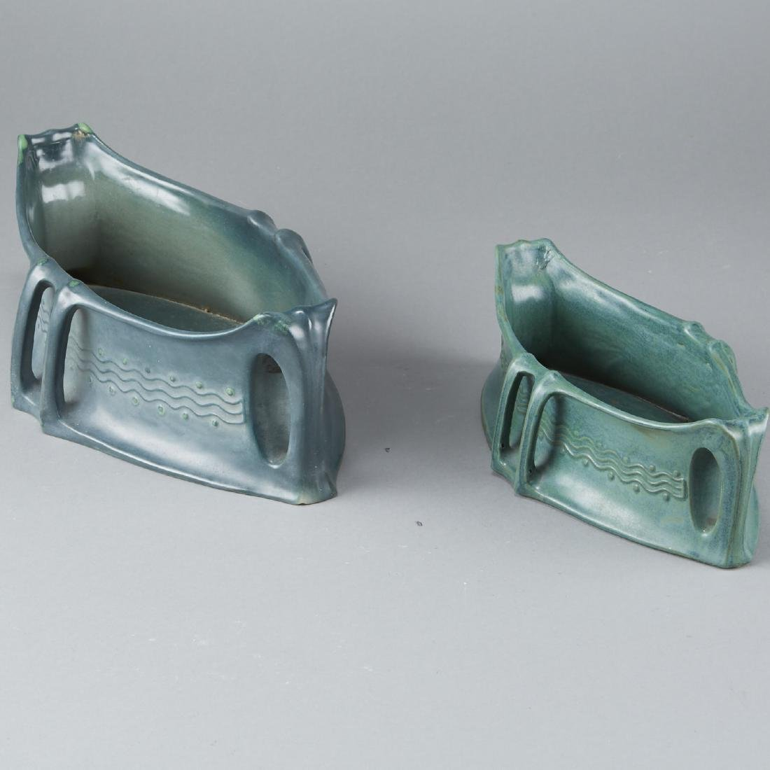 Pair of Amphora Arts and Crafts Basin - 2