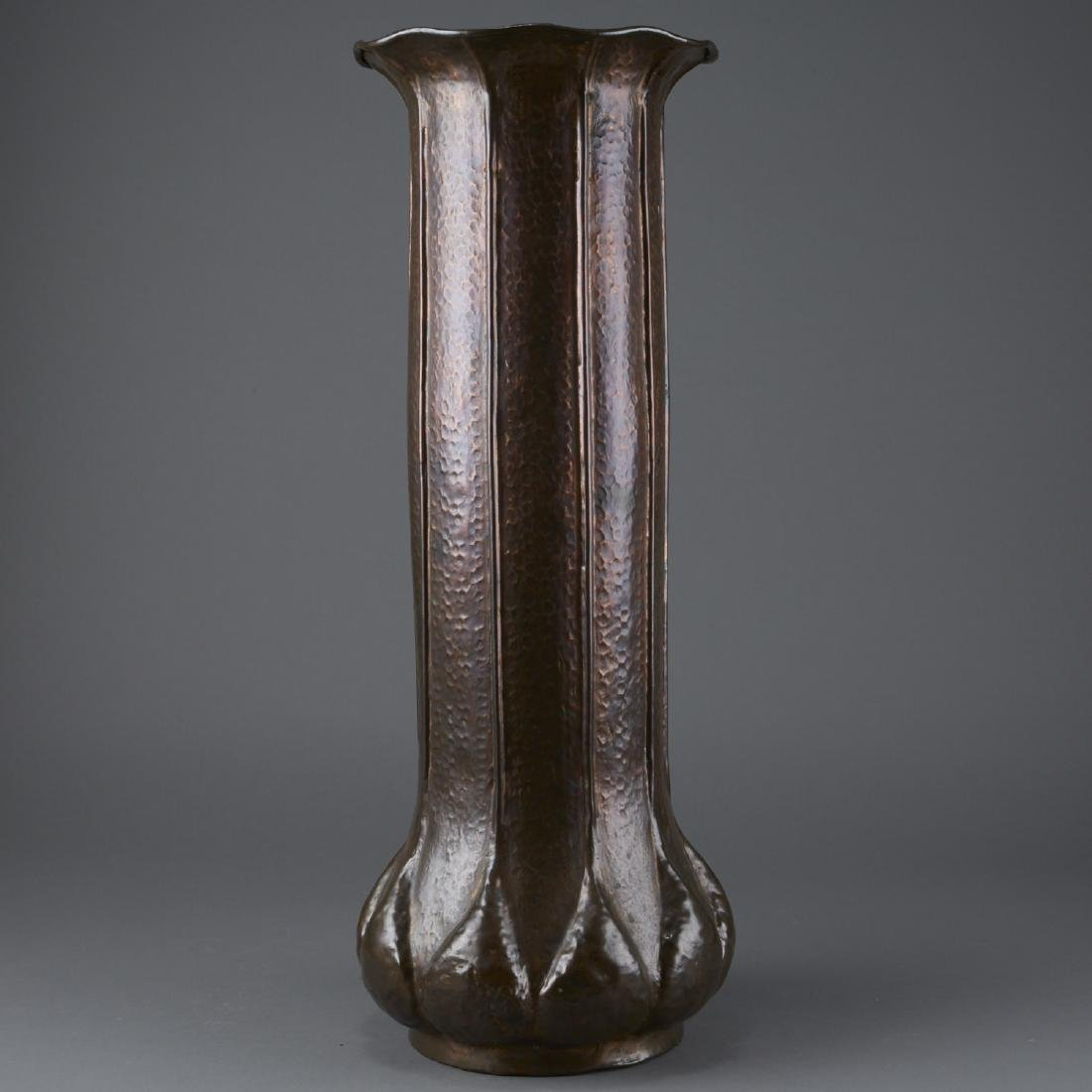 Hammered Copper Arts and Crafts Umbrella Stand