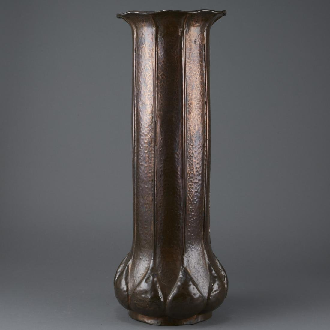 Hammered Copper Arts and Crafts Umbrella Stand - 3