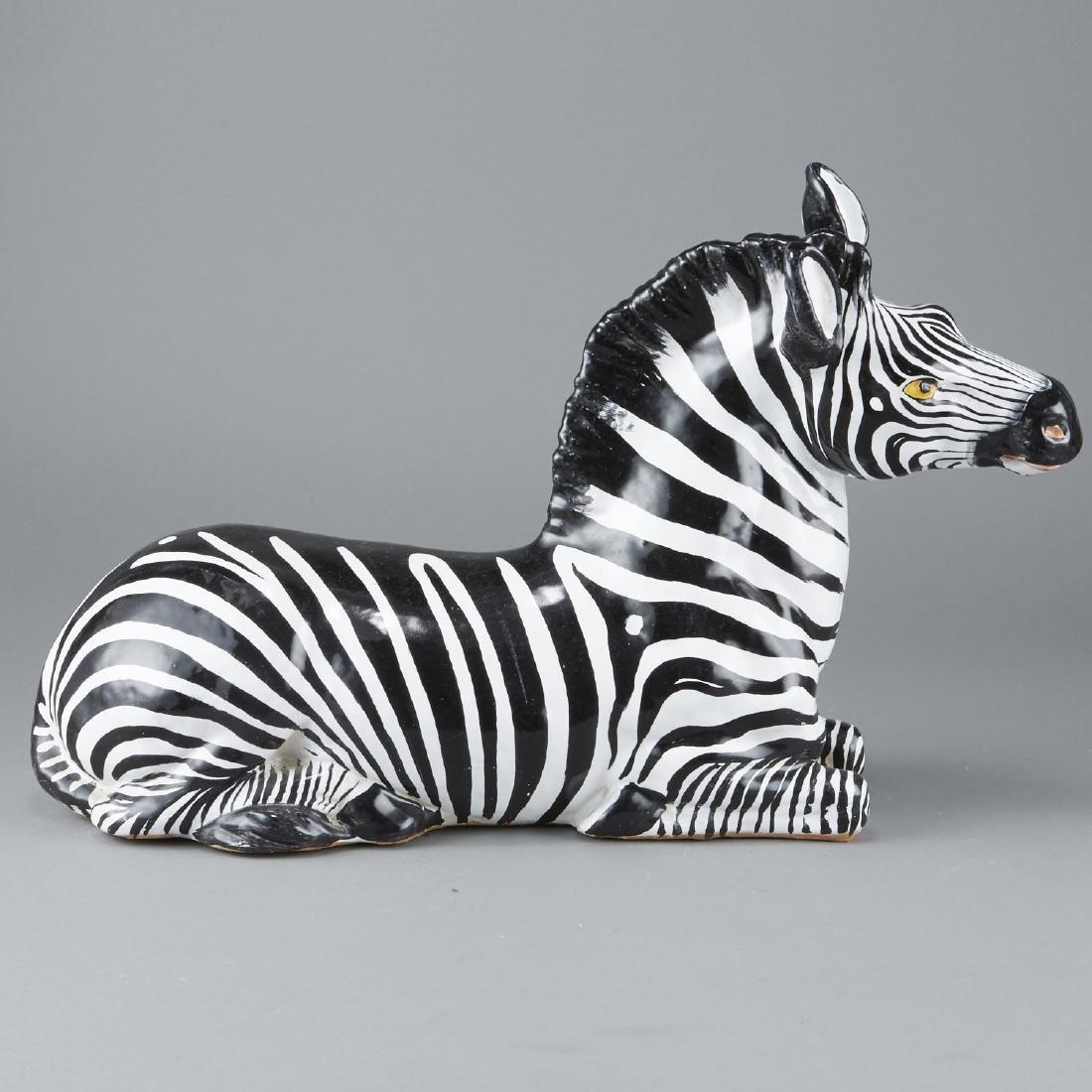 Mid-century Italian ceramic Zebra
