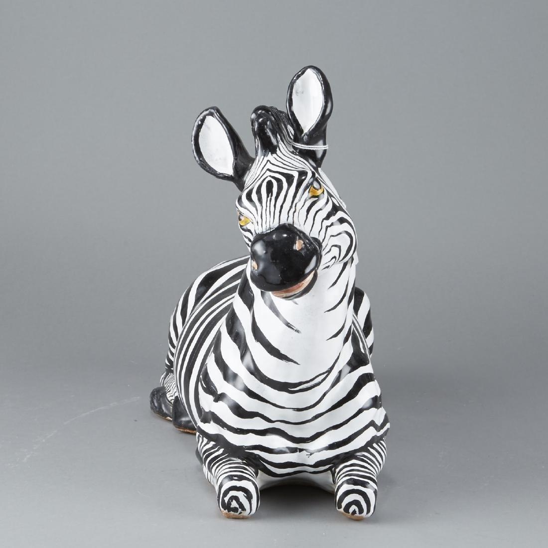 Mid-century Italian ceramic Zebra - 2