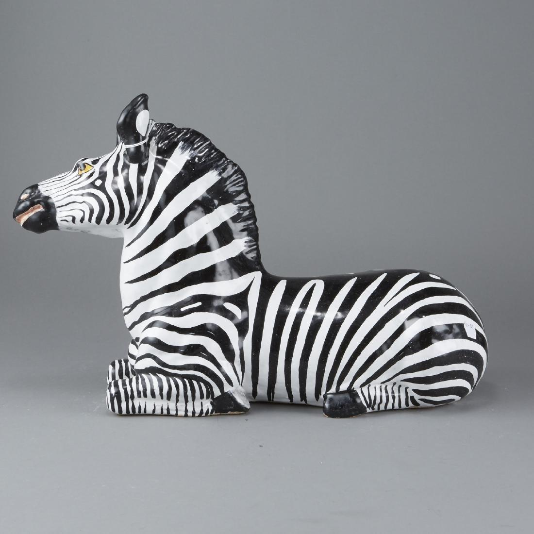 Mid-century Italian ceramic Zebra - 3