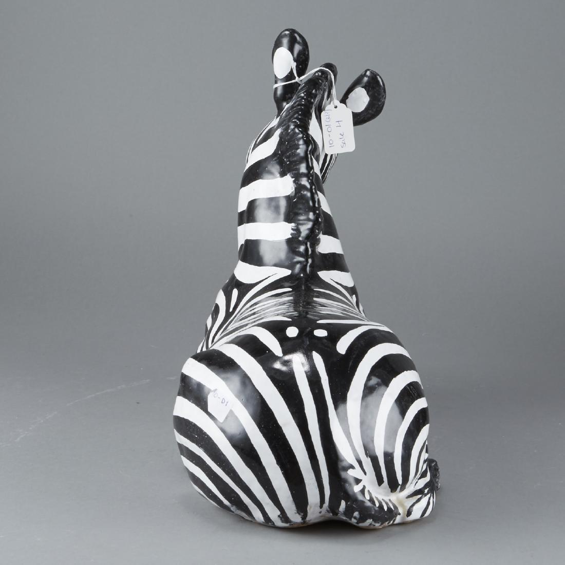 Mid-century Italian ceramic Zebra - 4