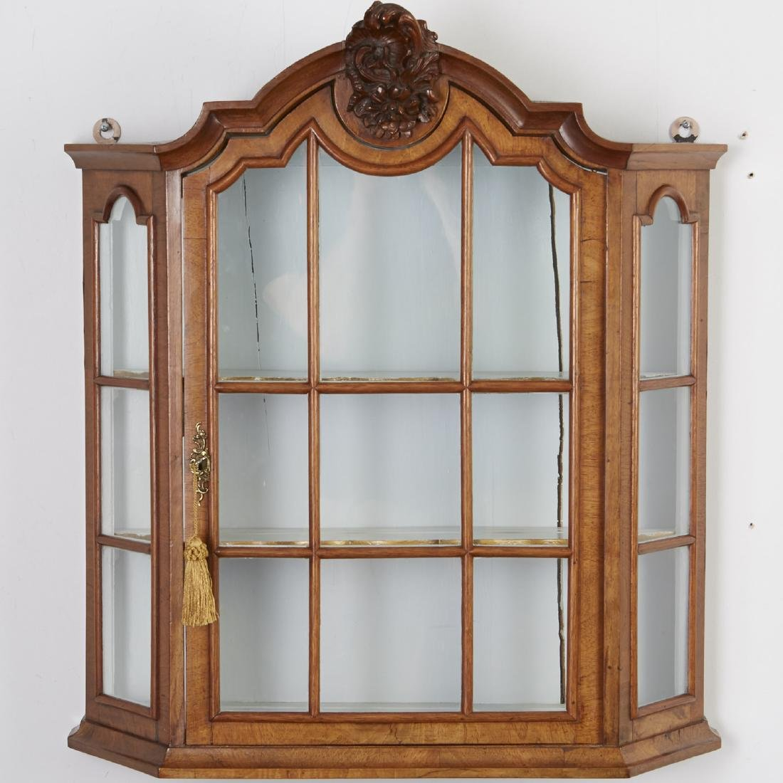 Antique Hanging Display Cabinet
